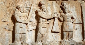 The mythical Gods - Investiture of Sassanid emperor Ardashir I or II