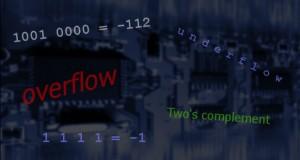 Números inteiros negativos em binário - overflow - underflow