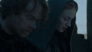 Game of Thrones Season 6 - Theon Greyjoy and Sansa Stark